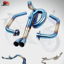 Motorcycle r3 mid exhaust pipe for YAMAHA R3 YZF-R3 YZFR3 2014 2015 2016 middle exhaust pipe Exhaust middle Exhaust System pipe