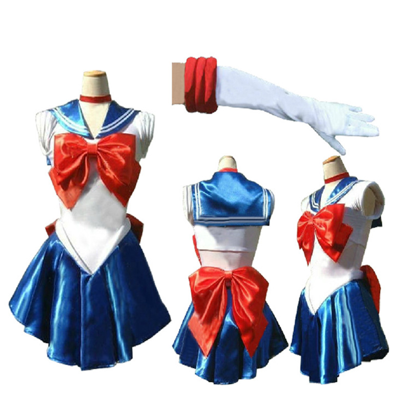 VASHEJIANG Anime Abbastanza Sexy Per Adulti Sailor Moon Costume Cosplay Fantasia Femminile Costumi di Halloween per Le Donne Ragazze Fancy Dress