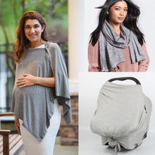 New Toddler Baby Car Seat Canopy Cover Up Apron Breastfeeding Shawl Super Comfortable Mommy Cotton Nursing Covers