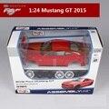 Maisto 1:24 modelos de autos Deportivos para Mustang GT 2015 rojo sport car Diecast carmetal modelos para niños juguetes para Niños