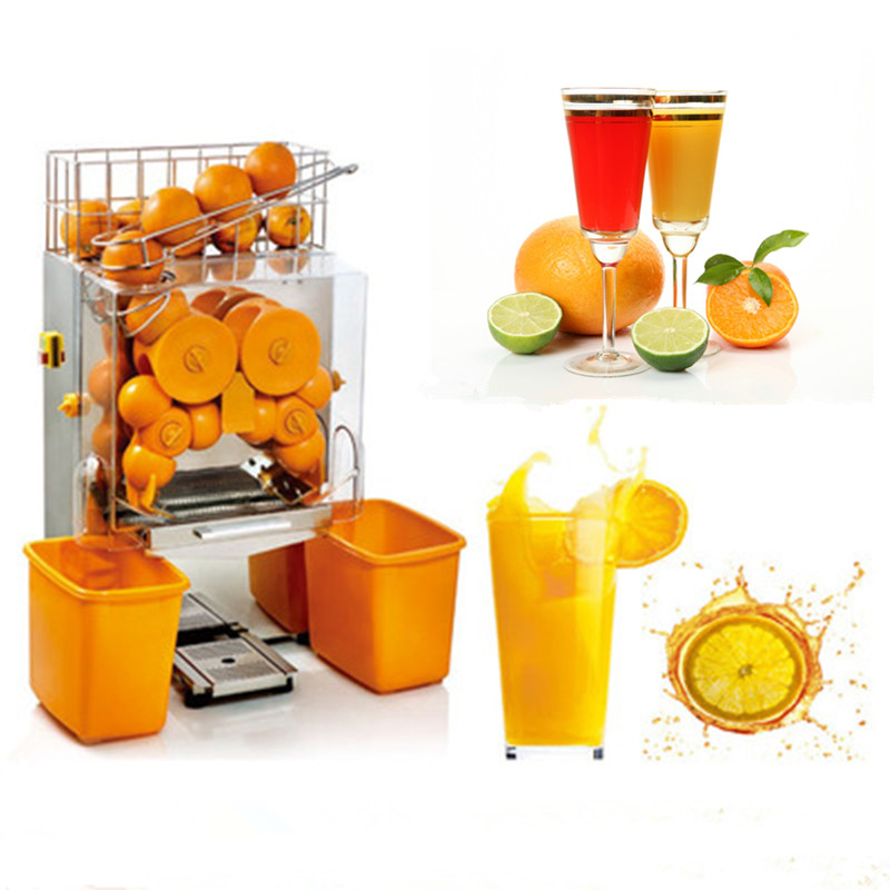 220V Electric commercial juicer automatic citrus orange fruit juicing machine  ZF free shipping electric automatic commercial orange juicer orange juice machine
