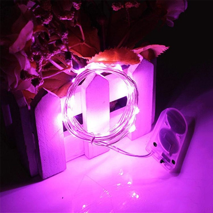 2M 20 Leds Copper Led Fairy Lights CR2032 Button Battery Operated LED String Light for Xmas Wedding party Decoration