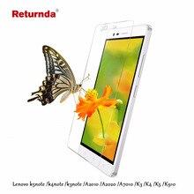 Вернуться закаленное стекло пленка для lenovo k5 note примечание k3 k4 примечание A2010 A2020 A7010 K3 K4 K5 K910 Телефон Протектор Экрана фильм