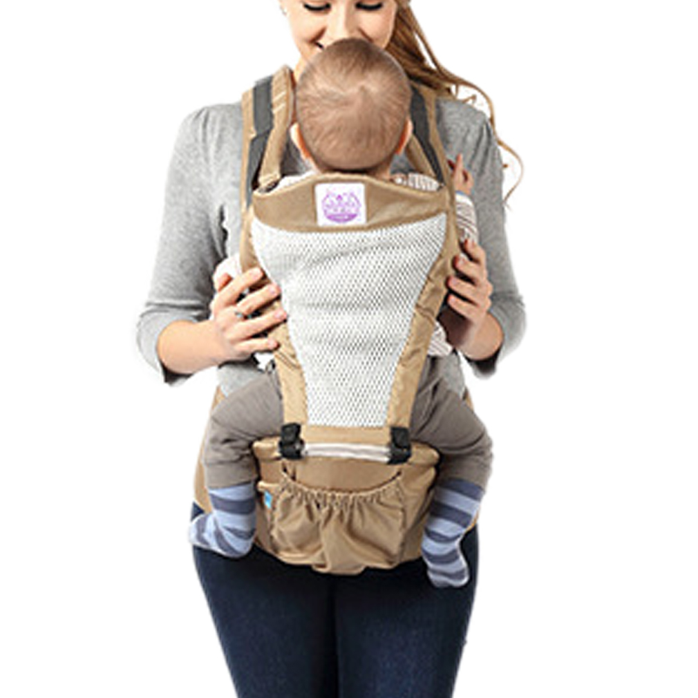 ФОТО 6-36 months Breathable Infant Baby Carrier Wrap Sling Suspenders Waist Seat Stools  Front Facing Baby Carrier 100%
