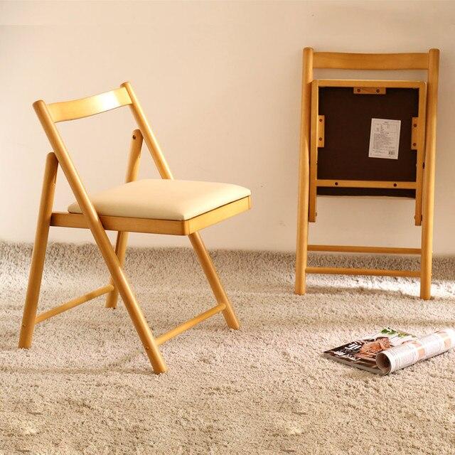 Silla de comedor moderna de madera maciza simpl Silla de escritorio ...