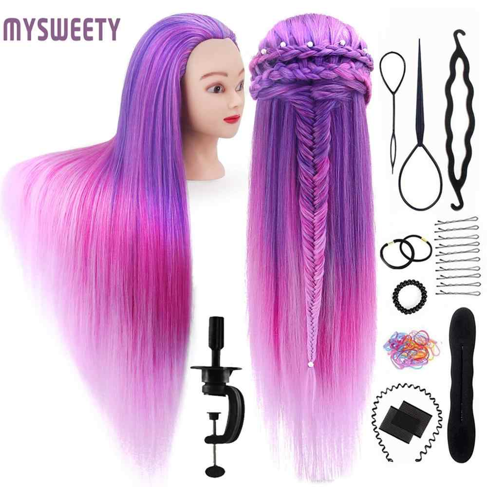 "29.5"" Hair Manikin Training Head Hair Practice Cosmetology Hair Doll Styling Hairdressing Mannequin Head with Hair"