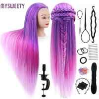 "29.5 ""Haar Puppe Ausbildung Kopf Haar Praxis Kosmetik Haar Puppe Styling Friseur Mannequin Kopf mit Haar"