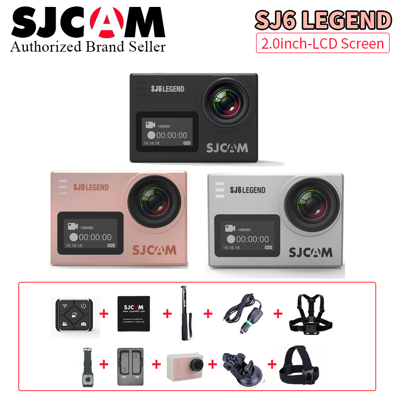 Stock !Action camera deportiva Original SJCAM SJ6 Legend remote Ultra HD 4K 24fps WiFi 2.0LCD Notavek 96660 sport waterproof cam