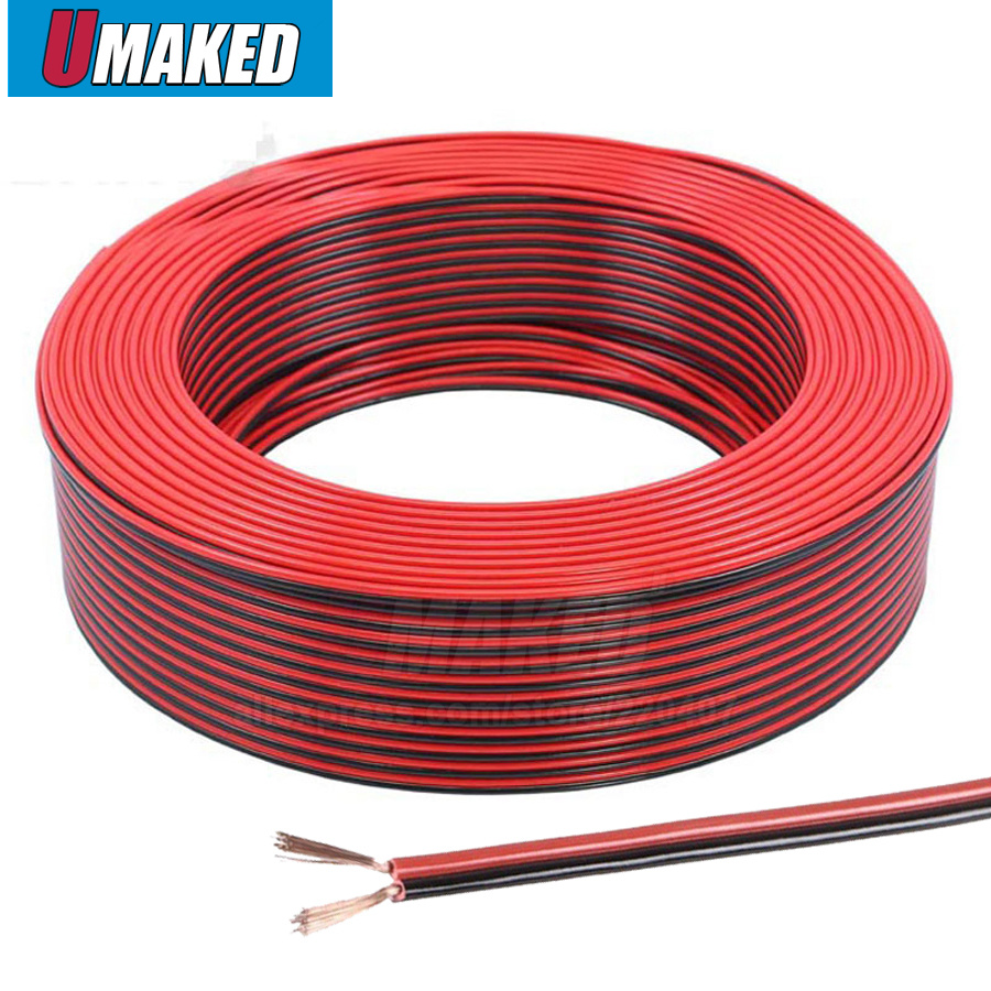 Buy Copper 18AWG, 2 pin Red Black cable, PVC insulated wire, 20 awg wire , Electric cable, LED cable, DIY Connect, extend wire cable for only 15.9 USD
