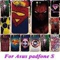 Мягкий Силиконовый ТПУ Телефон Охватывает Случаи Для Asus Padfone S PF500KL 5 дюймов Случаи Капитан Америка супермен Паук окрашен крышка