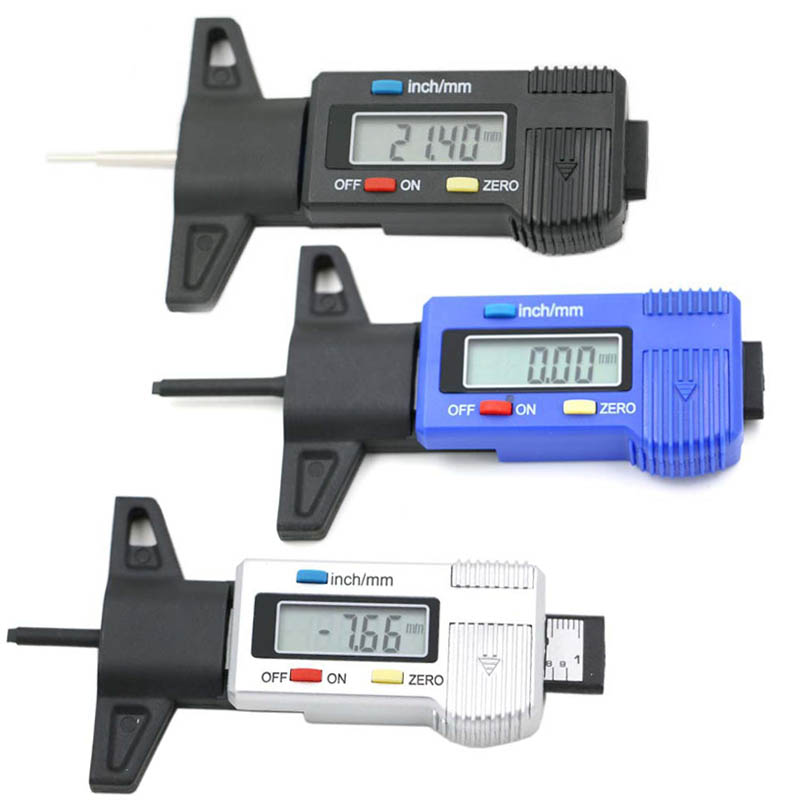 Hot Car Tire Tester Brake Shoe Pad Wear Digital Tyre Depth Gauge Tread Monitor Auto Tires Pressure Measurement CSL2017