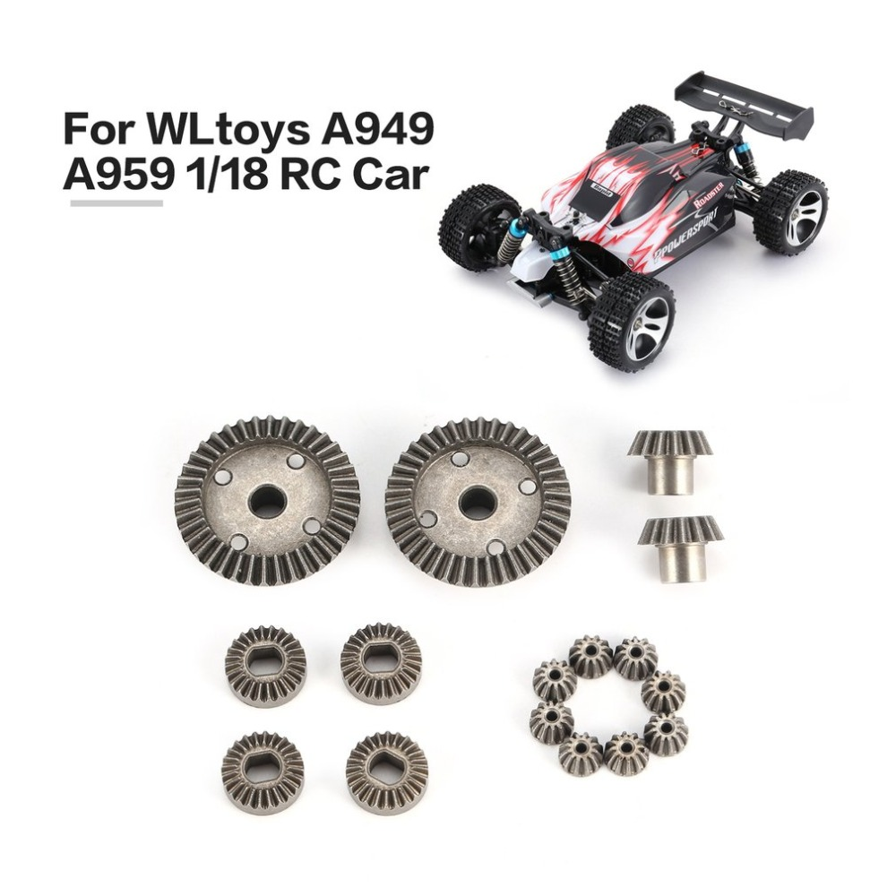 12T 15T 24T 38T Metal Front Rear Differential/ Motor Driving Gear Upgrade Parts Two Sets for WLtoys A959 A949 1/18 RC Car