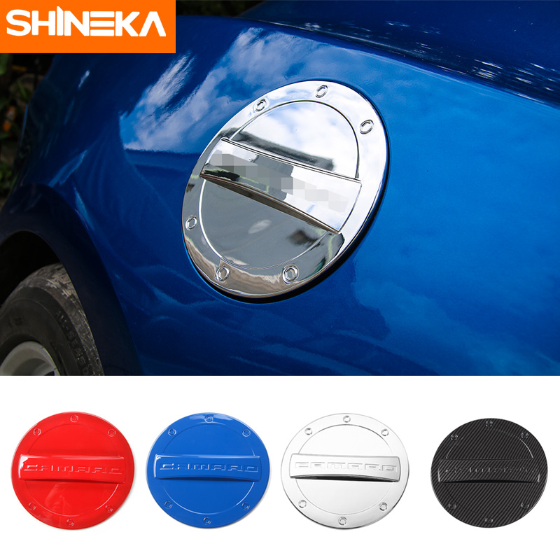 SHINEKA ABS Car Styling Fuel Tank Cap Gas Tank Cover Decoration For Chevrolet Camaro 2017+ Car Accessories
