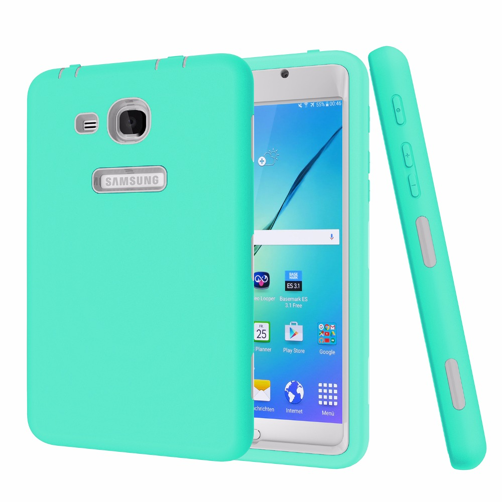 For Samsung Galaxy Tab A 7.0 SM-T280 SM-T285 Case All Round Protective Cover 3 Layer Plastic+Rubber Case T280Coque Funda Capa аксессуар чехол samsung galaxy tab a 7 sm t285 sm t280 it baggage ultrathin red itssgta7005 3