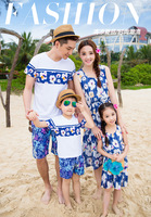 Summer Beach Family Look Mother Daughter Dresses Father Son Clothes Matching Family Clothes Outfits Fashion Family