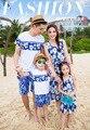 La playa del verano Family Look vestidos madre hija padre hijo ropa de la familia juego de ropa trajes familia de moda t hirt conjuntos