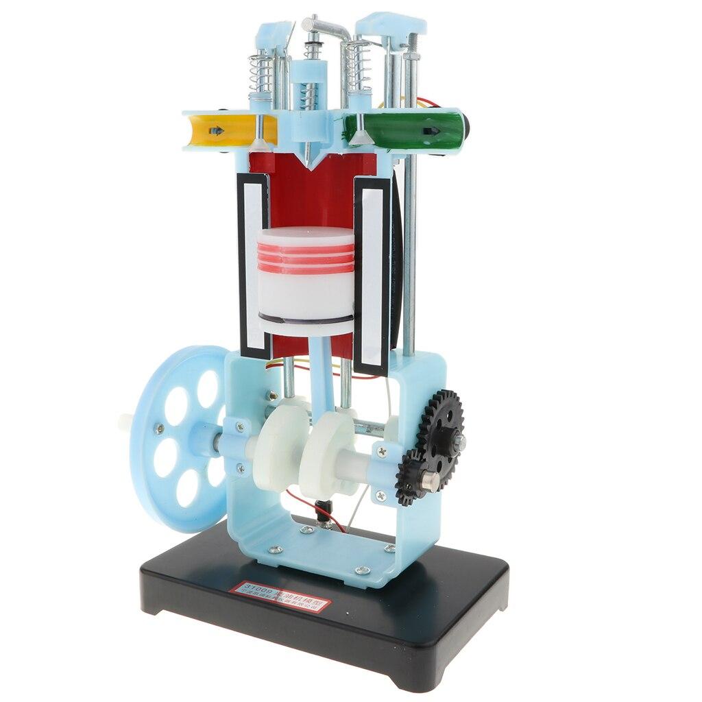 4 Stroke Single-Cylinder Diesel Engine Model Physics Educational Toy - Gasoline Model 31009