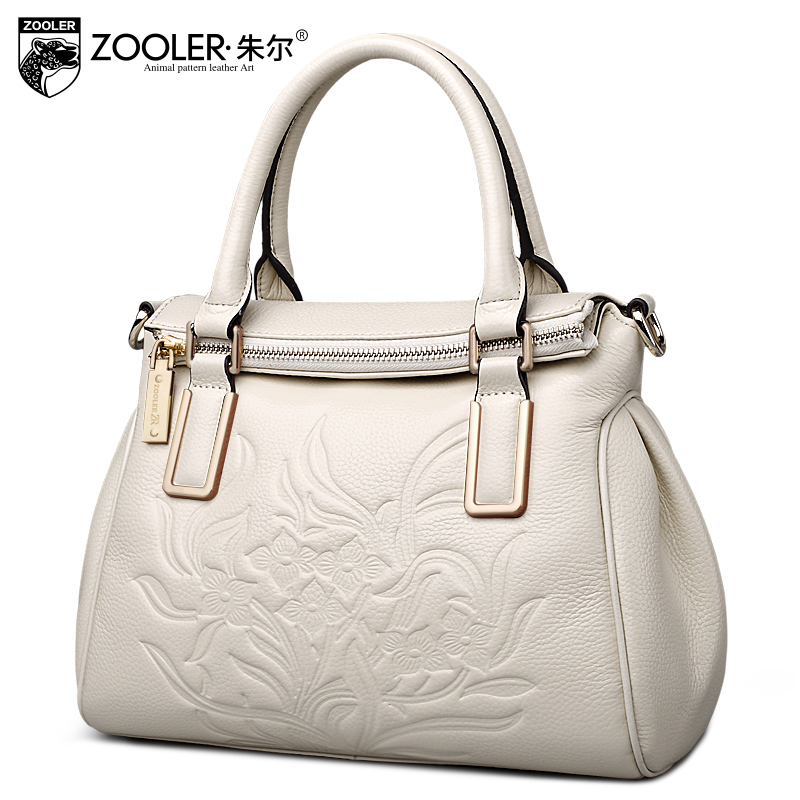 ZOOLER wholesale 2017 women cowhide bags genuine leather handbag shoulder bag OL famous brand ladies type bag crossbody #1082