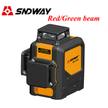 Sndway 12 lines laser level 360 3d Red/Green laser level 8/2 lines self leveling laser tools cross vertical horizontal leveler ootdty 3 line 3 dots 360degree self leveling cross laser level red level laser level tools