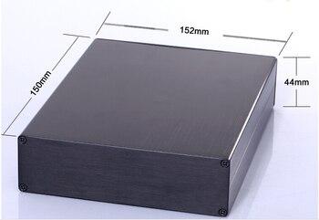 2PCS Aluminum enclosure project power shell box PCB electronic case 152X44X150mm DIY black NEW wholesale
