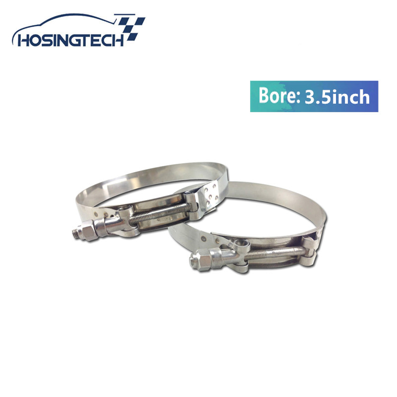 HOSINGTECH- NEW High Quality 3.5 Turbo Hose clamp Stainless Silicone T Bolt hose Clamp Kit 3pcs