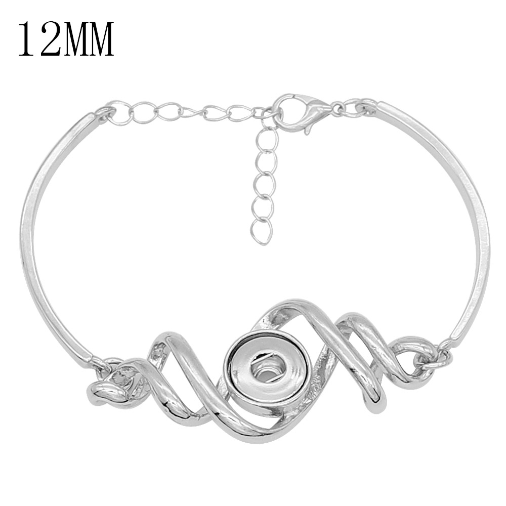 2019 New Fashion Adjustable Chain Bracelets Metal Snap Bracelet Fit 12MM Snap Buttons DIY Snap Jewelry For Women image