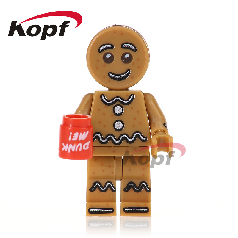 Gingerbread Man Chicken Suit Statue of Liberty Inhumans Royal Family Super Heroes Model Building Blocks Toys for children PG1028