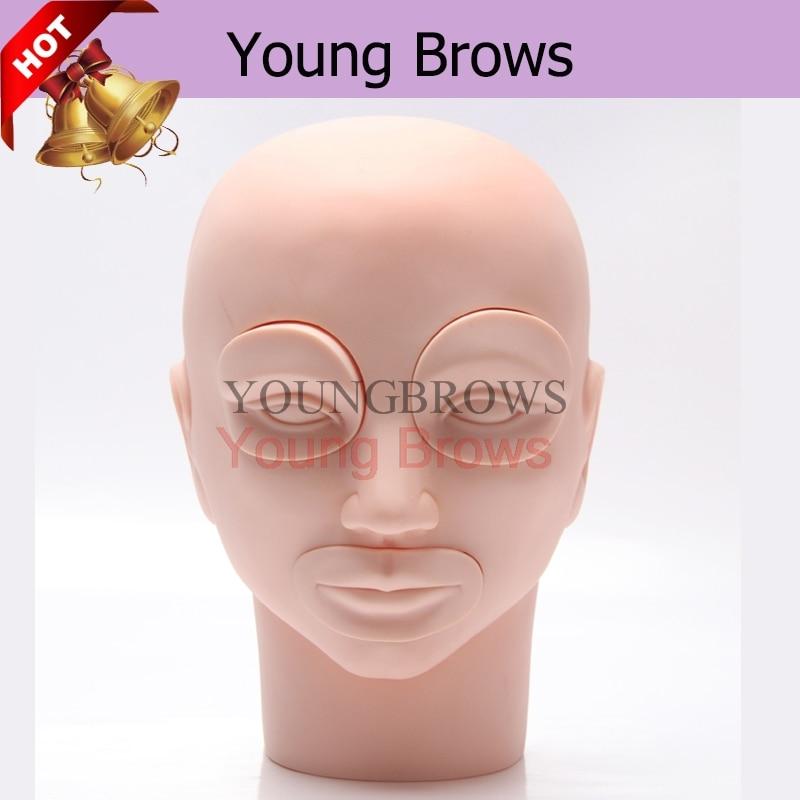 Mannequin fej betétekkel a tartós sminkhez Kezdõk Gyakorlat - Tetoválás és testmûvészet