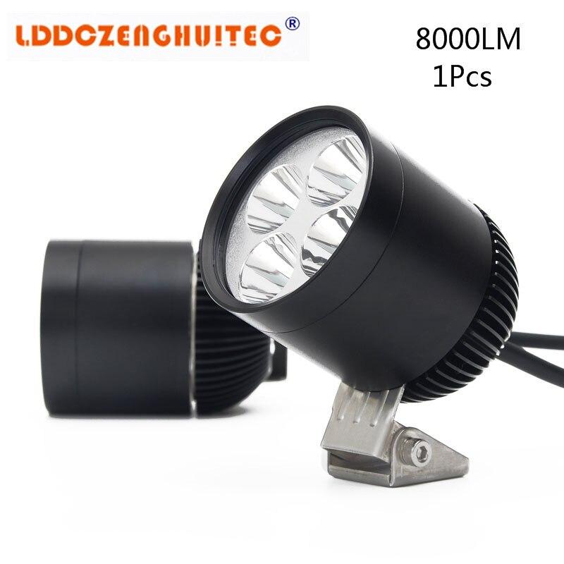 LDDCZENGHUITEC 40 W 8000lm LED Moto Phare Lampe Moto e-bike LED Conduite Brouillard Spot Projecteur Lumière Accesorios Moto