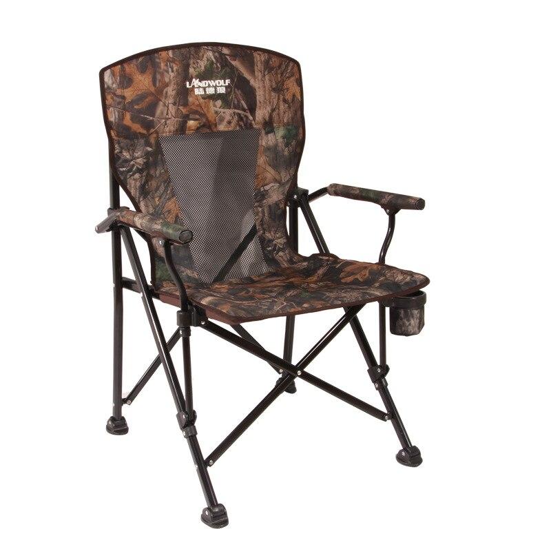 Porteurs 300 kg Extérieur chaise longue pliante camping Sauvage Pêche/tabouret chaise de Plage facile à transporter pour le camping