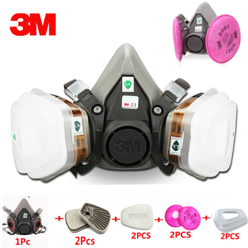 ... 3 m 6200 Indústria Meia Face Paint Spray Respirador Máscara de Gás  Respirador de Segurança do Trabalho de Proteção À Prova de Poeira máscara  Com Filtro 49b3538a17
