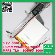 Security Packing (Stage four) three.7V / lithium polymer batteries 306090 / containing 3000mAh / 7 inch Pill PC Common Battery