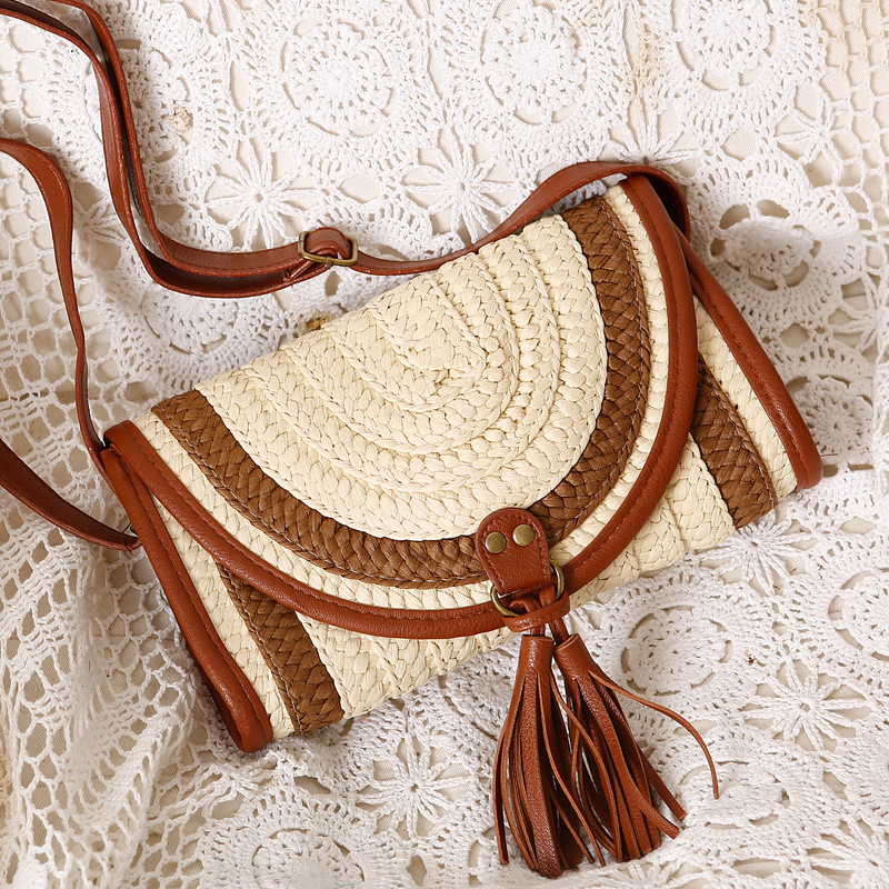 Kissyenia 2018 INS Hot Handmade Bali Beach Bags Women Summer Island Straw Knitted Handbag Crossbody Wicker Bag Woven Flap KS1116