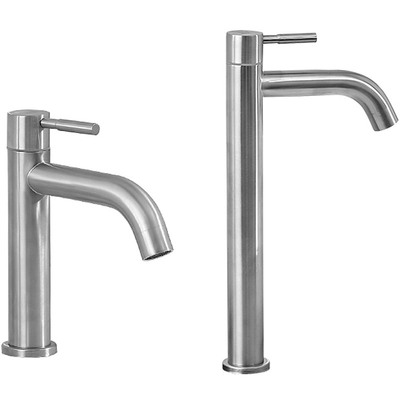 New 304 Stainless Steel Basin faucet Rust and corrosion resistance bathroom kitchen single cold water faucet