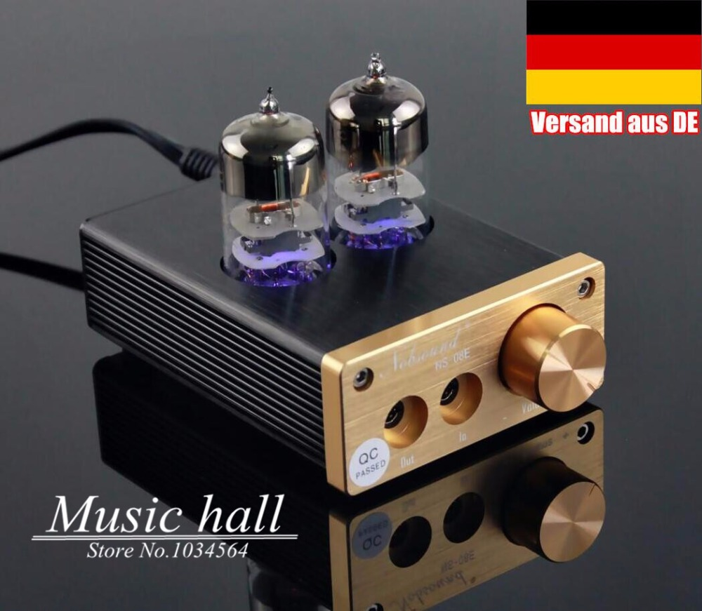 Music hall Nobsound HiFi 6J9 Valve Tube Headphone Amplifier Mini Stereo Power amp Home Audio Free Shipping appj pa1501a mini stereo 6ad10 vintage vacuum tube amplifier desktop hifi home audio valve tube integrated power amp