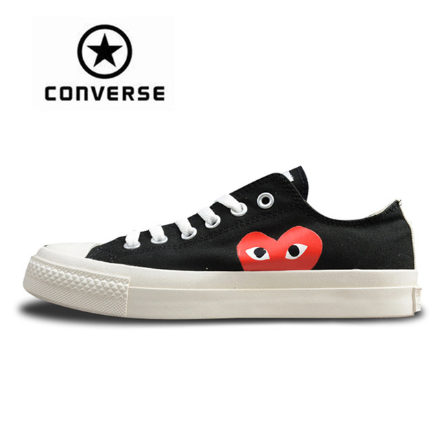 Converse CDG X Chuck Taylor 1970s HiOX 18SS Skateboarding Shoes Sport Black  Authentic For Men And Women Unisex 150210C 35-44 3263ba2be7fa