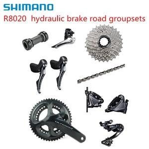 Image 2 - Shimano Ultegra R8020 2x11 מהירות הידראולי דיסק בלם Groupset לבנות ערכת Derailleurs כביש אופניים R8070