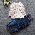 Новый 0 - 2 лет комплект одежды 2 шт./компл. ( Beidai ку-диапазон + свитер ) марка девочка и мальчик одежда