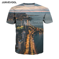 Night View Hot Sale Men And Women T Shirt Summer Fitness Tops Tees Plus Size 6XL