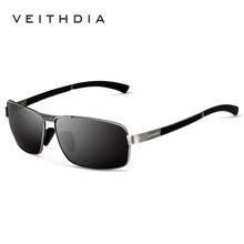 VEITHDIA gafas de Marca de Lujo de Los Hombres gafas de Sol Cuadradas lente Polarizada Gafas de Sol de La Vendimia gafas de sol Gafas shades For Men 2490