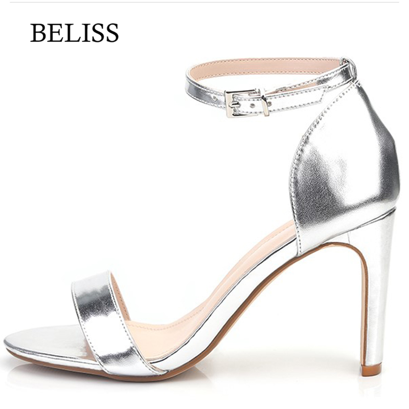 BELISS Sexy Classic Women Spring Summer Pumps Sandals High Heel Fahion Women 39 s Sandals Ladies Ankle Strap Shoes Open Toe S65 in High Heels from Shoes