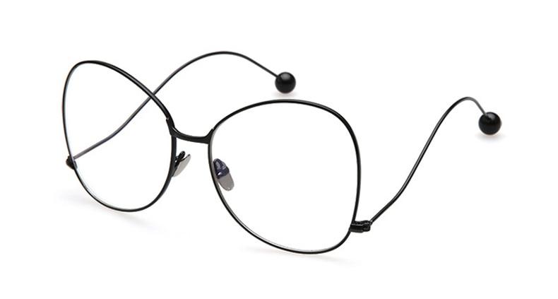 Agstum Ladies Women Full Rim Oversized Eyeglasses Metal
