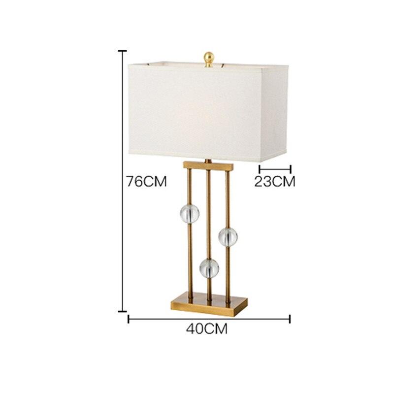 Американский простой кристалл luminaria-де-меса Гостиная исследование Лампы для мотоциклов Спальня тумбочка свет украшения гостиницы abajour H76cm