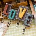 O Vento Europeu E Americano AMOR Pendurado Gancho Amarrado Letras Criativas Artigos de decoração Para Casa