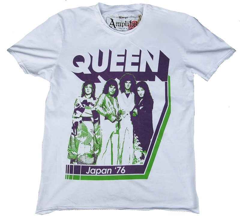 0b9463785 Vintage Amplified Official Queen Japanese 76 Freddie Mercury Star Vip T- Shirt 100% Cotton