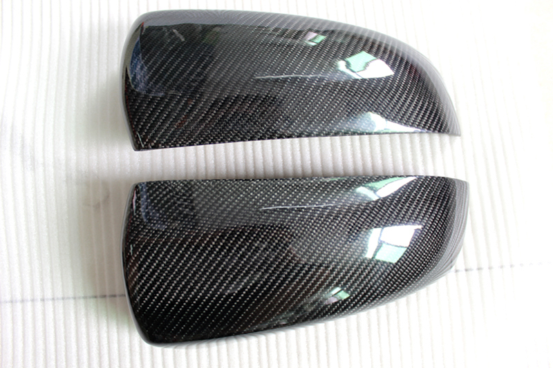For BMW X5 E70 2008 - 2013 True Carbon Car Side Mirror Rearview Cover Trims 2pcs f10 side wing rearview mirror cover caps for bmw sedan 11 13 carbon fiber