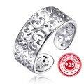 Snh cola anillo de compromiso anillo de bodas de plata de ley 925 anillos para las mujeres band anillos ajustables de la joyería nupcial