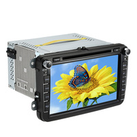 8 Inch HD Digital Touch Screen Car DVD Player GPS Navigation Bluetooth Multimedia For VW Volkswagen