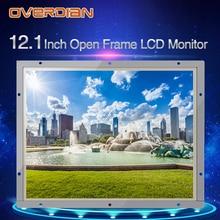 Pantalla de 12 pulgadas, Monitor LCD Industrial 1400*1050, interfaz VGA/DVI/USB, carcasa de Metal de alta resolución, pantalla táctil de resistencia fría