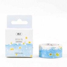 2cm*5m Oceans of stars washi tape DIY decoration scrapbooking planner masking tape adhesive tape label sticker
